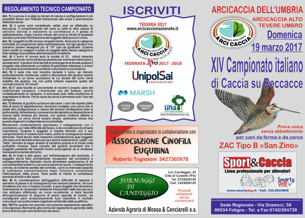 Campionato Beccacce 19 marzo 2017