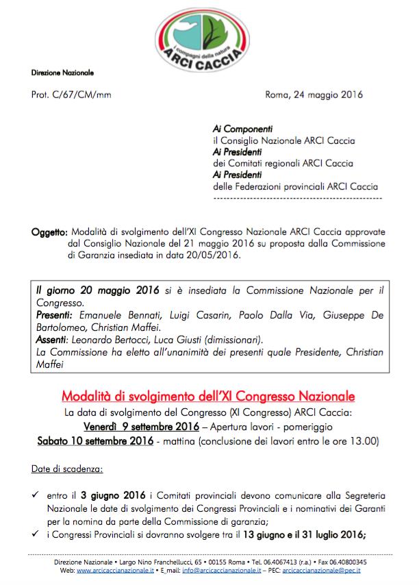 Modalità svolgimento XI Congresso Nazionale-1