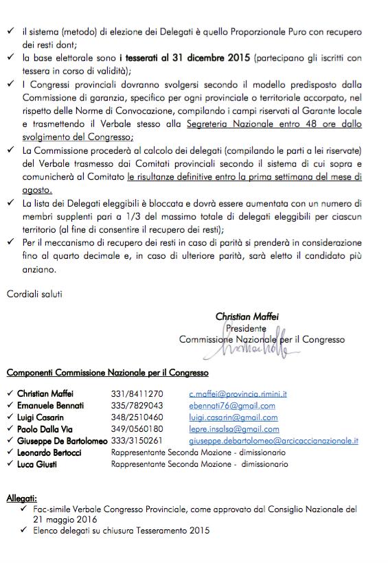 Modalità svolgimento XI Congresso Nazionale-2