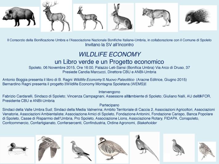 Incontro WILDLIFE ECONOMY Spoleto