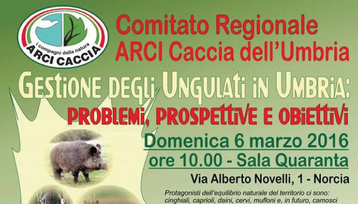 Convegno ARCI CACCIA Domenica 6 MARZO 2016