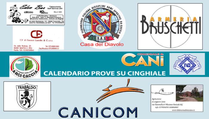 CALENDARIO PROVE SU CINGHIALE